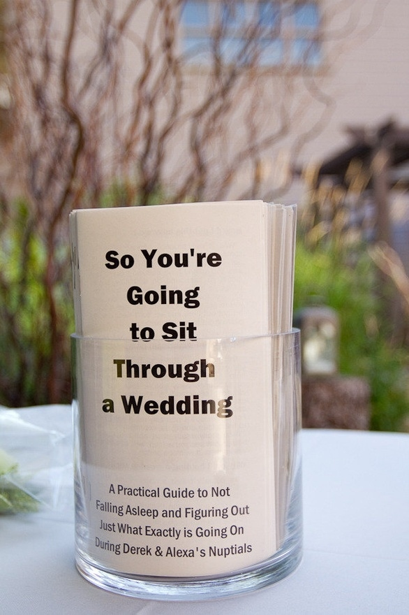 Cool Idea For Your Wedding Guests